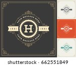 ornament logo design template... | Shutterstock .eps vector #662551849