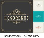 ornament logo design template... | Shutterstock .eps vector #662551897