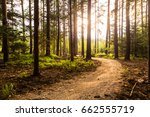 hiking path and sunset in... | Shutterstock . vector #662555719