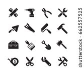 working tools icon. tool vector ... | Shutterstock .eps vector #662557525