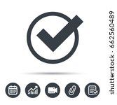 tick icon. check or confirm... | Shutterstock .eps vector #662560489