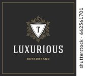 ornament logo design template... | Shutterstock .eps vector #662561701