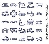 automobile icons set. set of 25 ... | Shutterstock .eps vector #662563669