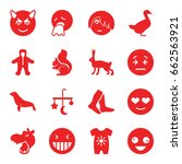 cute icons set. set of 16 cute... | Shutterstock .eps vector #662563921