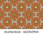 multicolor ornament of small... | Shutterstock . vector #662565964