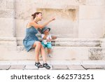 mother and son in zadar ... | Shutterstock . vector #662573251
