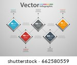 five steps infographics with... | Shutterstock .eps vector #662580559