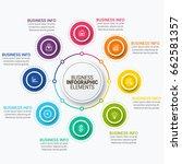 modern infographic ribbons... | Shutterstock .eps vector #662581357