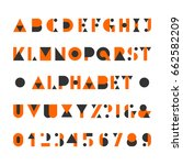 abstract alphabet font.... | Shutterstock .eps vector #662582209
