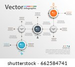 abstract colorful infographics... | Shutterstock .eps vector #662584741