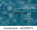 mechanical engineering drawings.... | Shutterstock .eps vector #662585071
