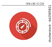 compass line simple icon....