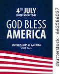 american independence day. god... | Shutterstock .eps vector #662586037