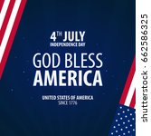 american independence day. god... | Shutterstock .eps vector #662586325