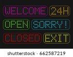 set sign digital color circle... | Shutterstock .eps vector #662587219
