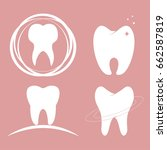 dental design teeth set icon | Shutterstock . vector #662587819
