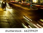 moving traffic and car lights... | Shutterstock . vector #66259429