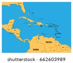 central america and carribean... | Shutterstock .eps vector #662603989