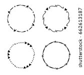 hand drawn creative circle for... | Shutterstock .eps vector #662613187