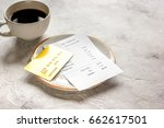 restaurant bill  card and... | Shutterstock . vector #662617501