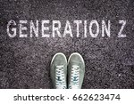 text generation z written on... | Shutterstock . vector #662623474