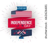 4th july usa independence day... | Shutterstock .eps vector #662626681