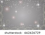glow light effect. vector... | Shutterstock .eps vector #662626729