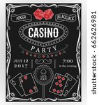 casino party invitation on... | Shutterstock .eps vector #662626981