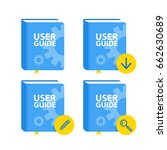 user guide book download icon... | Shutterstock .eps vector #662630689