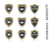 set of predator bird logos... | Shutterstock .eps vector #662634175