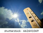 Small photo of Summer heat on the thermometer