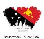 flag of papua new guinea  brush ... | Shutterstock .eps vector #662648557