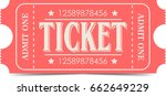 ticket icon | Shutterstock . vector #662649229