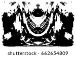 grunge black and white urban... | Shutterstock .eps vector #662654809
