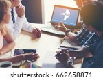 business people meeting design... | Shutterstock . vector #662658871