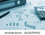 business or finance background. ... | Shutterstock . vector #662659441