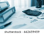 business or finance background. ... | Shutterstock . vector #662659459
