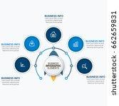 infographics template vector   Shutterstock .eps vector #662659831