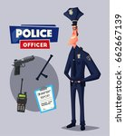 policeman character. cartoon... | Shutterstock .eps vector #662667139