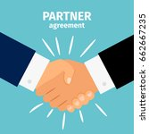 business partnership handshake... | Shutterstock .eps vector #662667235