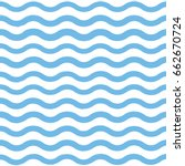 blue wave pattern | Shutterstock .eps vector #662670724