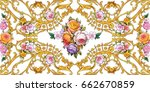 decorative floral composition... | Shutterstock . vector #662670859
