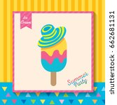 summer party design with ice...   Shutterstock .eps vector #662681131