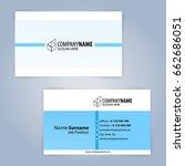 business card template. blue... | Shutterstock .eps vector #662686051
