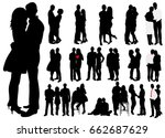 vector  isolated  black and... | Shutterstock .eps vector #662687629