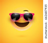 yellow 3d smiley with... | Shutterstock .eps vector #662687935