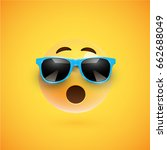 yellow 3d smiley with... | Shutterstock .eps vector #662688049
