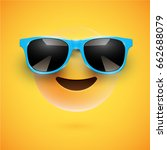 yellow 3d smiley with... | Shutterstock .eps vector #662688079