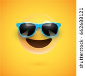 yellow 3d smiley with... | Shutterstock .eps vector #662688121