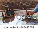 ultrasonic test to detect... | Shutterstock . vector #662692339